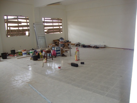 Finishing off internal class rooms