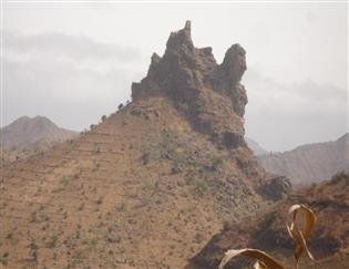Santiago Island one of the volcanic archipelago Islands of Cape Verde