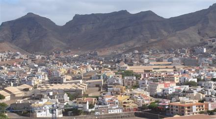Sao Vicente Island part of the volcanic archipelago Islands of Cape Verde
